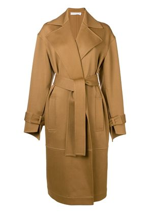 Victoria Beckham open front coat - Brown