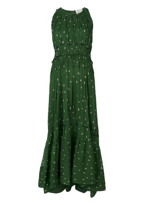 3.1 Phillip Lim Printed pintucked gown - Green