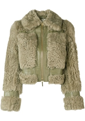 Zimmermann cropped shearling jacket - Green