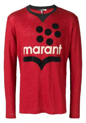Isabel Marant graphic print sweater - Red