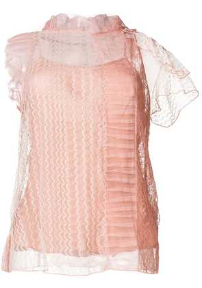 3.1 Phillip Lim sheer embroidered blouse - Pink