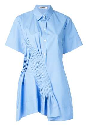 Jil Sander gathered pleat detail shirt - Blue