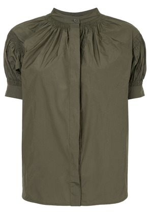 Jil Sander gathered puff-sleeve shirt - Green