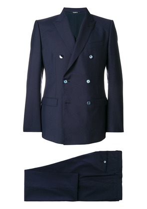 Dolce & Gabbana double breasted two piece suit - Blue