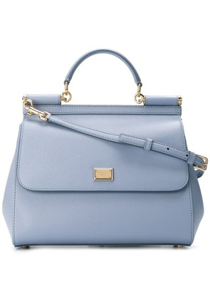 Dolce & Gabbana large Sicily shoulder bag - Blue