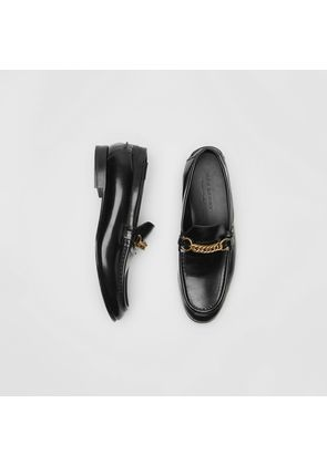Burberry The Leather Link Loafer, Black