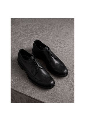 Burberry Leather Derby Brogues, Black