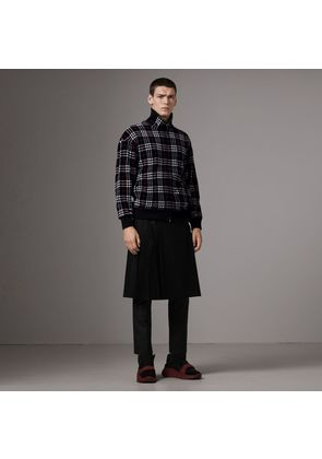 Burberry Check Velvet Bomber Jacket