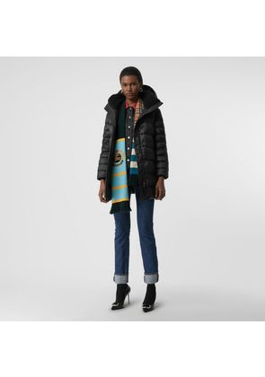 Burberry Down-filled Hooded Puffer Coat, Black