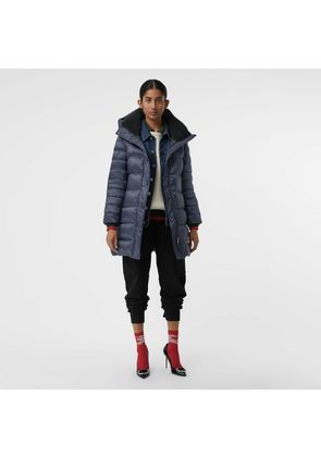 Burberry Down-filled Hooded Puffer Coat, Blue