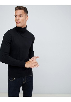 Jack & Jones Premium roll neck knit - Black