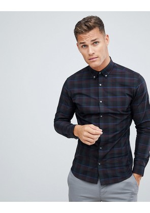 Jack & Jones Premium shirt in slim fit check - Scarab