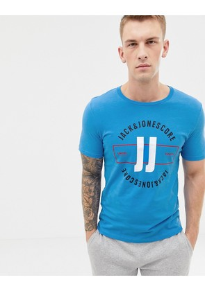 Jack & Jones Core print t-shirt - Azure blue