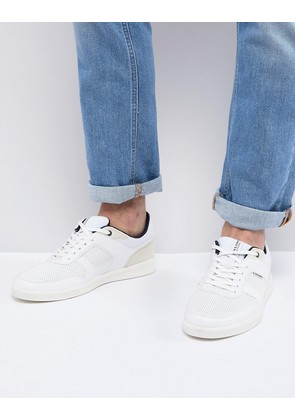 Jack & Jones Trainers With Perforated Panels - Bright white