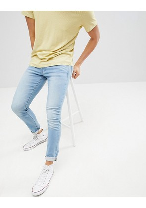 Jack & Jones Slim Fit Light Blue Jeans In Premium Wash - Blue denim