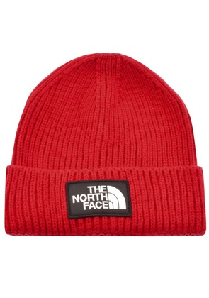 The North Face Logo Beanie Hat Red
