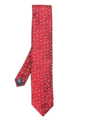 Lanvin rectangle pattern tie - Red