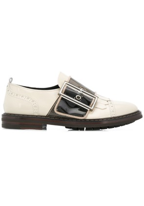 Agl oversized buckle loafers - White