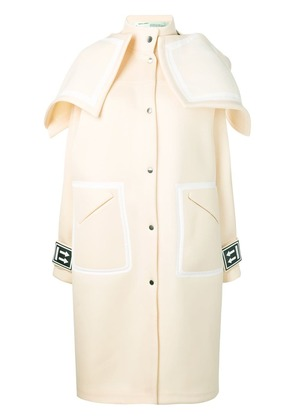 Off-White Long K-Way coat - Neutrals