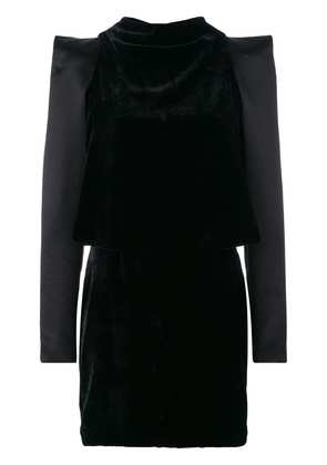 Tom Ford dress with power shoulder and cutout details - Black