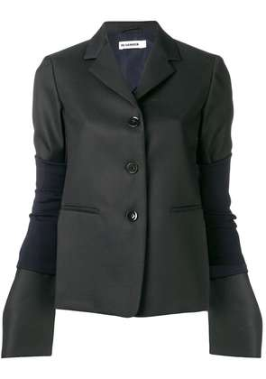 Jil Sander long sleeved jacket - Blue