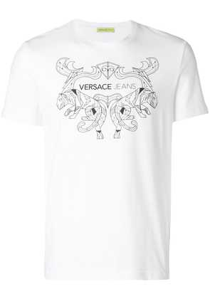 Versace Jeans printed T-shirt - White