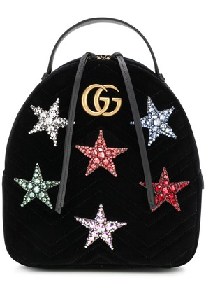 Gucci GG Marmont star backpack - Black
