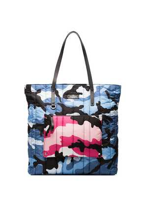 Valentino multicoloured camouflage print quilted tote