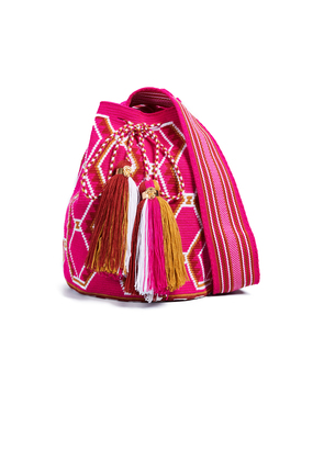The Way U Solid and Striped Large Mochila Bucket Bag