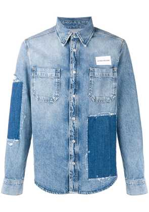 Calvin Klein Jeans patchwork denim shirt - Blue