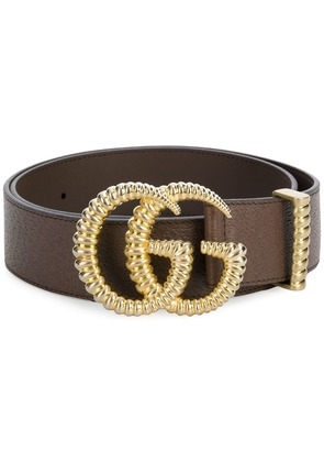 Gucci torchon double G buckle belt - Brown