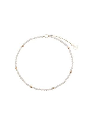 Anissa Kermiche 14K gold and pearl anklet - White
