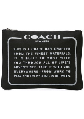 Coach Large Multifunctional Pouch - Black