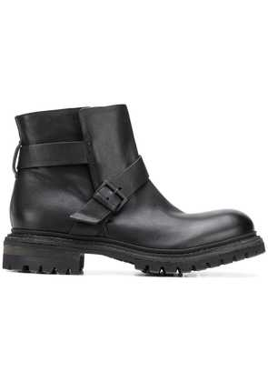 Del Carlo buckled ankle boots - Black