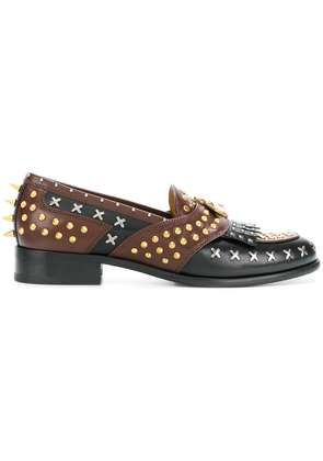 Gucci studded loafers - Black
