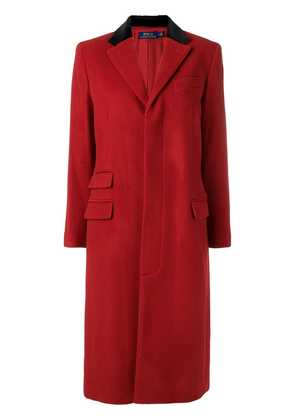 Polo Ralph Lauren velvet collar coat - Red