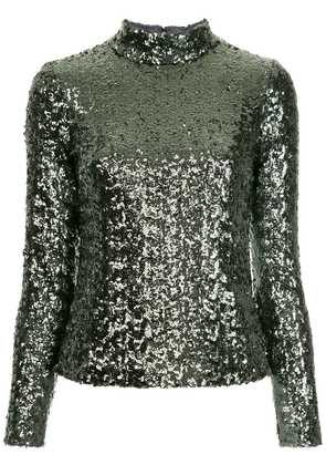 Alexis sequin embellished top - Silver