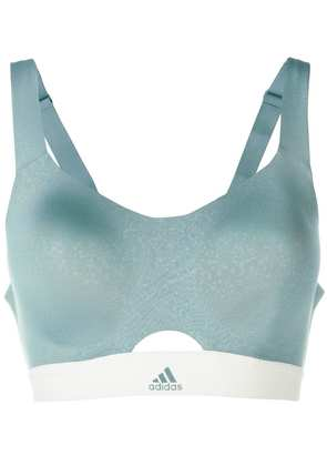 Adidas Stronger for It soft sports bra - Green