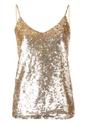 P.A.R.O.S.H. sequin embellished cami top - Gold