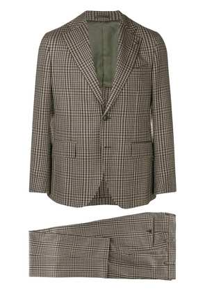 Gabriele Pasini two piece checked suit - Brown