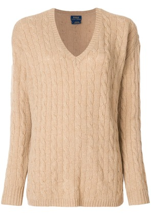 Polo Ralph Lauren cable-knit jumper - Brown