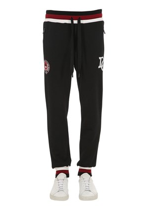 LOGO EMBROIDERED JERSEY SWEATPANTS