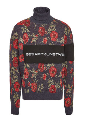 OAMC Wallpaper Turtleneck Pullover with Cotton