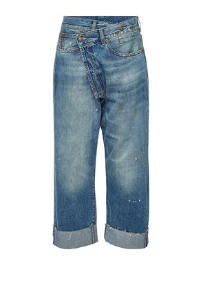 R13 Crossover Distressed Jeans