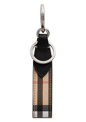 Burberry Vintage Check and Leather Key Ring - Black