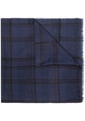 Lanvin checked scarf - Blue