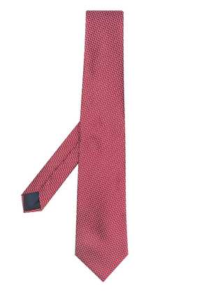 Lanvin micro pattern tie - Red