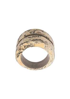 Parts Of Four distressed chunky ring bands - Silver
