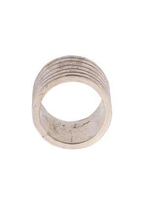 Parts Of Four distressed grooved ring - Silver