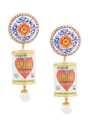 Dolce & Gabbana drop clip-on earrings - Multicolour